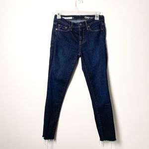 GAP Girlfriend Dark Blue Denim Straight Jeans 24